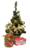 Christmas Tree and Gifts. Over white background Royalty Free Stock Images