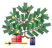 Christmas tree with gifts Stock Photos