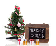 A christmas tree with gifts Stock Images