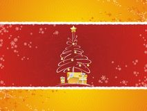 Christmas tree with gifts. A fully scalable vector illustration of Christmas tree. Happy holidays vector illustration