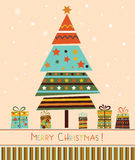 Christmas Tree with Gifts. royalty free illustration