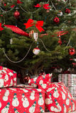 Christmas tree with gifts Royalty Free Stock Photo