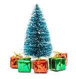 Christmas tree with gifts boxes Royalty Free Stock Photography