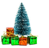 Christmas tree with gifts boxes Royalty Free Stock Photo