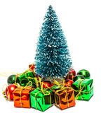 Christmas tree with gifts boxes Stock Image