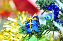 Christmas tree and gifts Stock Photos