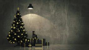 Christmas Tree with Gifts,Christmas concept. Stock Photo