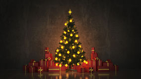 Christmas Tree with Gifts,Christmas concept. Stock Images