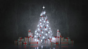 Christmas Tree with Gifts,Christmas concept. Royalty Free Stock Photo