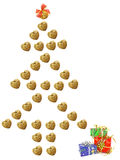 Christmas tree  and gifts concept Royalty Free Stock Images