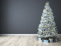 Christmas tree with gifts. 3d rendering Stock Photography