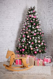 Christmas tree and gifts Stock Image