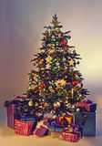 Christmas tree with gifts Stock Images