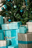Christmas tree and gifts Royalty Free Stock Photo