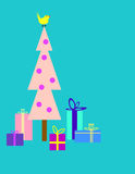 Christmas tree and gifts Royalty Free Stock Images