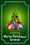 Christmas Tree with Gifts. Christmas Tree with Gifts in Green Color Stock Photography