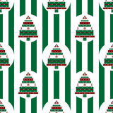 Christmas tree gifts green strips seamless pattern Royalty Free Stock Images