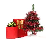 Christmas Tree and Gifts. Stock Photography