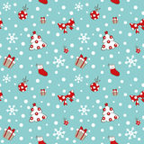 Christmas tree and gifts pattern Stock Image