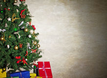 Christmas tree with gifts. Royalty Free Stock Photo