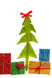 Christmas tree and gifts Royalty Free Stock Photos