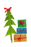 Christmas tree and gifts Stock Images