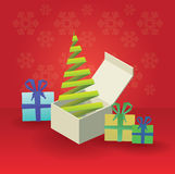 Christmas tree and gifts theme Royalty Free Stock Image