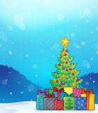 Christmas tree and gifts theme image 6. Eps10 vector illustration Stock Photography
