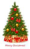 Christmas tree and gifts. Vector Stock Images