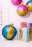 Christmas tree with gifts on white background Royalty Free Stock Photo