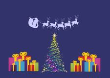 Christmas tree and gifts, Royalty Free Stock Photos