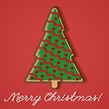 Christmas tree ginger bread greeting card Stock Photos