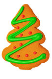 Christmas tree gingerbread cookie. On white background; Christmas cookie Stock Images