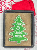 Christmas tree gingerbread cookie Royalty Free Stock Images