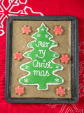 Christmas tree gingerbread cookie Stock Photos