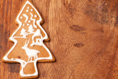 Christmas tree gingerbread cookie Royalty Free Stock Image