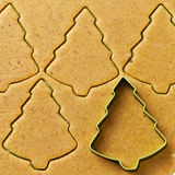 Christmas tree gingerbread cookies Royalty Free Stock Photography