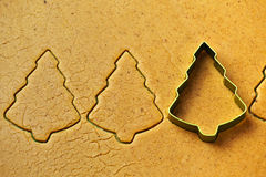 Christmas tree gingerbread cookies Stock Image
