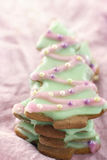 Christmas tree gingerbread cookies Royalty Free Stock Images