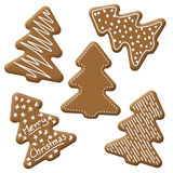 Christmas tree gingerbread. With white sugar topping Royalty Free Stock Photo