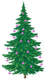 Christmas tree with glass balls Stock Photos
