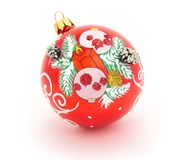 Christmas-tree glass decorations Royalty Free Stock Images