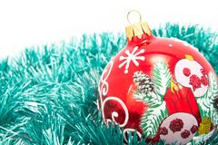 Christmas-tree glass decorations Royalty Free Stock Photo