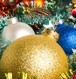 Christmas-tree glass decorations Royalty Free Stock Image