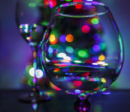 Christmas tree through glass Royalty Free Stock Image