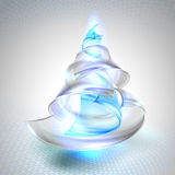 Christmas tree from glass Royalty Free Stock Photos