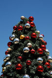 Christmas tree glinting under sunny African sky Royalty Free Stock Image