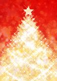 Christmas tree. Glittering golden Christmas tree background Stock Images