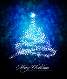 Christmas Tree of Glittering Stars Royalty Free Stock Image
