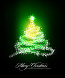 Christmas Tree of Glittering Stars Stock Image